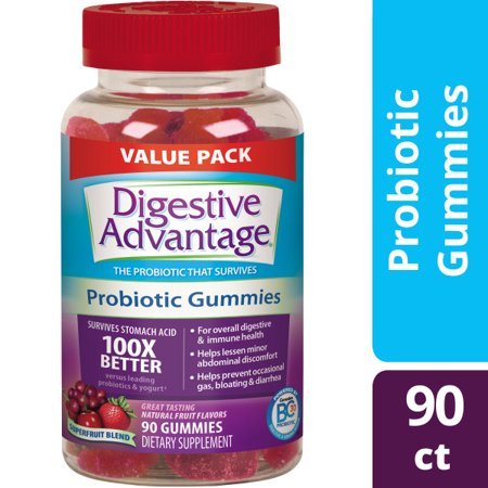 Probiotic Blend - Digestive Advantage, Daily Probiotic Supplement, Superfruit Blend Gummies, 90 Count