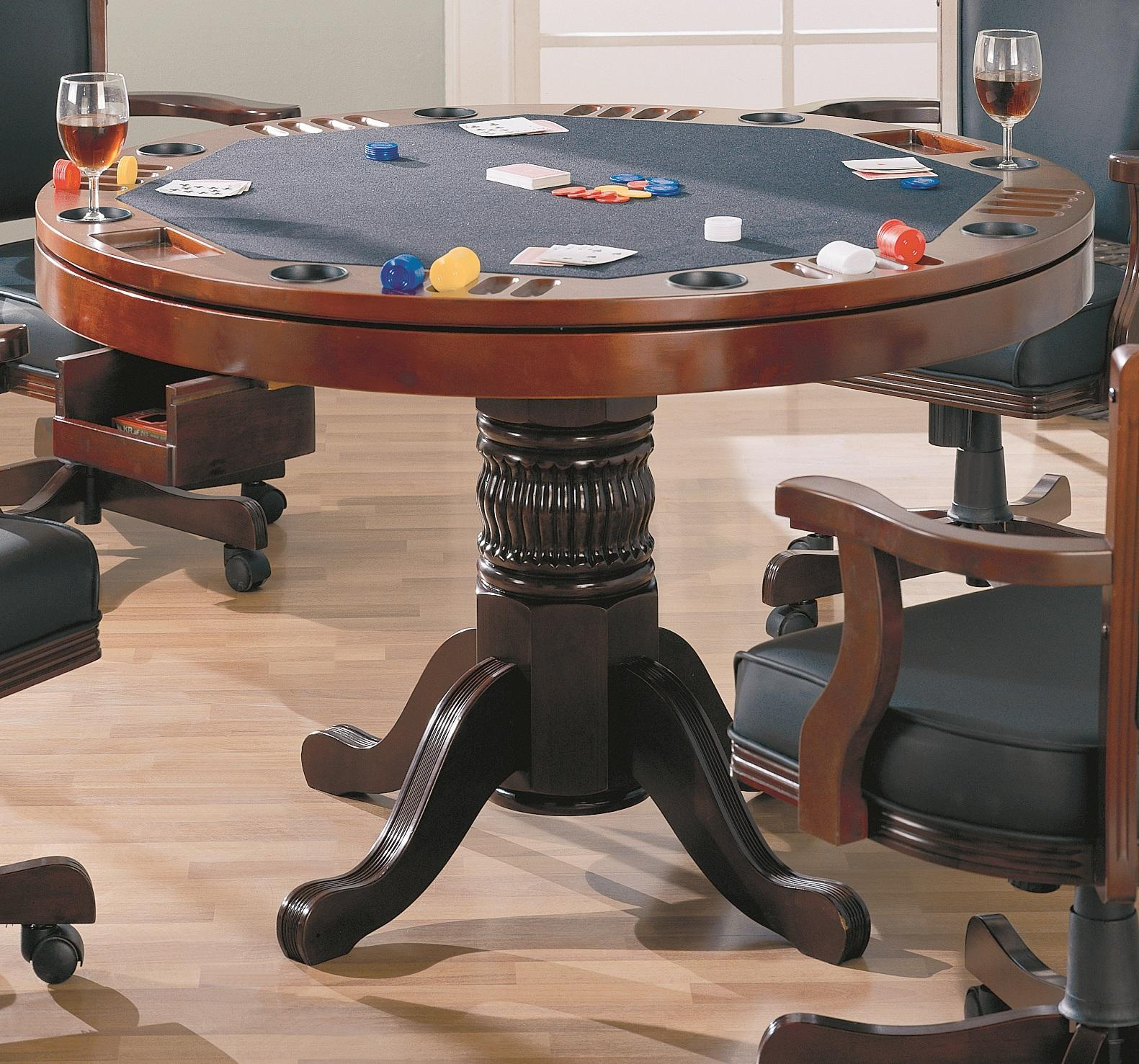 Norwitch 3-in-1 Oak Game Table-Finish: Cherry
