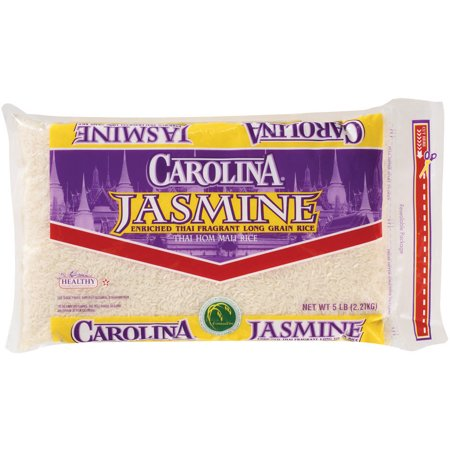 Carolina Jasmine Enriched Thai Fragrant Long Grain Rice, 5-Pound -