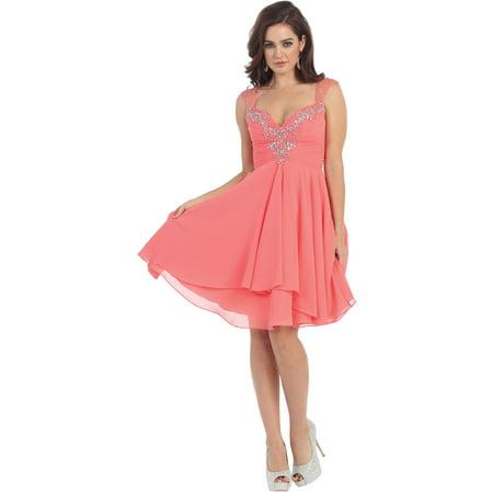 Formal Dress Shops Inc Sale Flowy Short Semi Formal Dance Dress