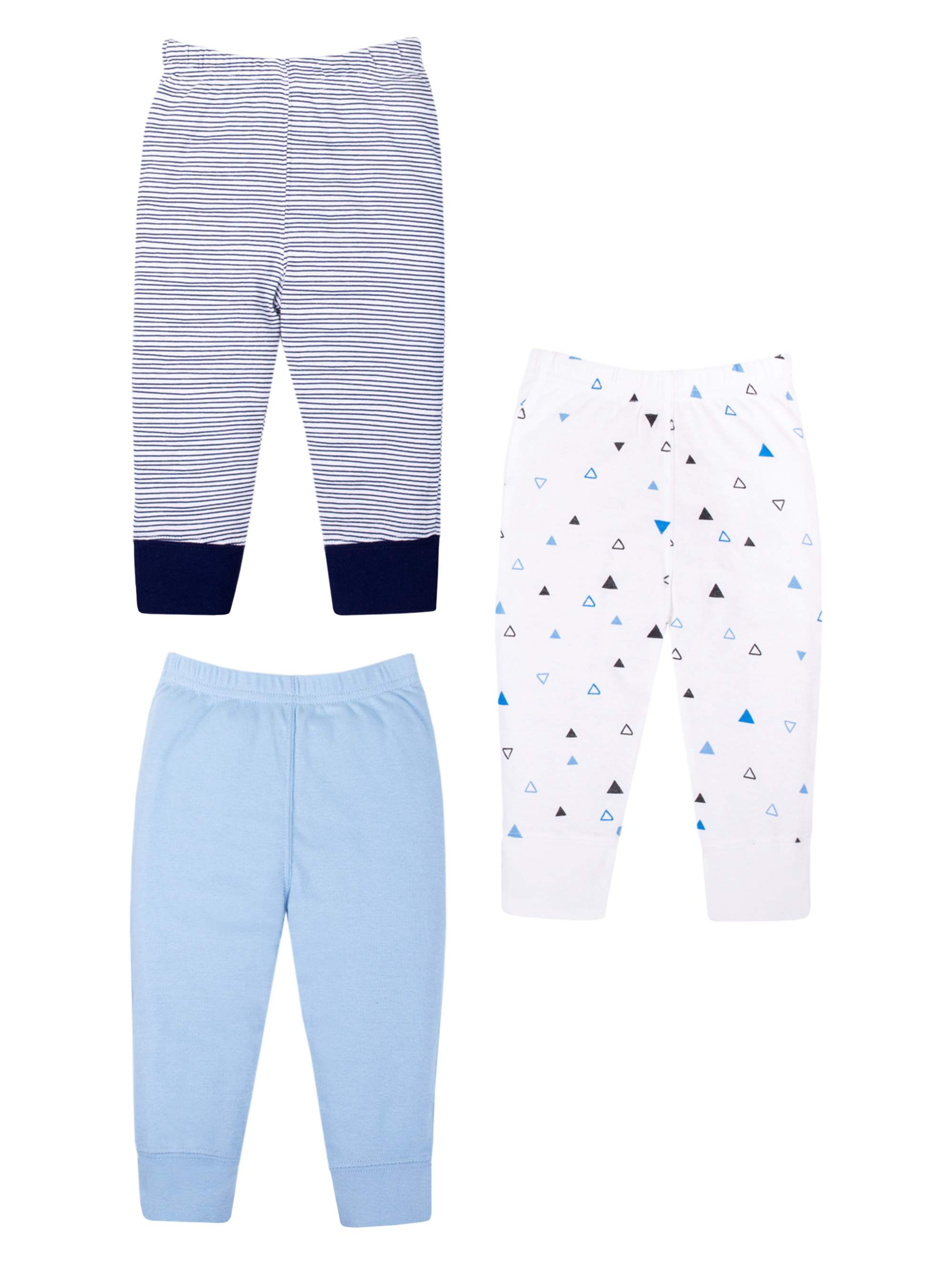 Little Star Organic Knits Pants, 3-pack (Baby Boys)