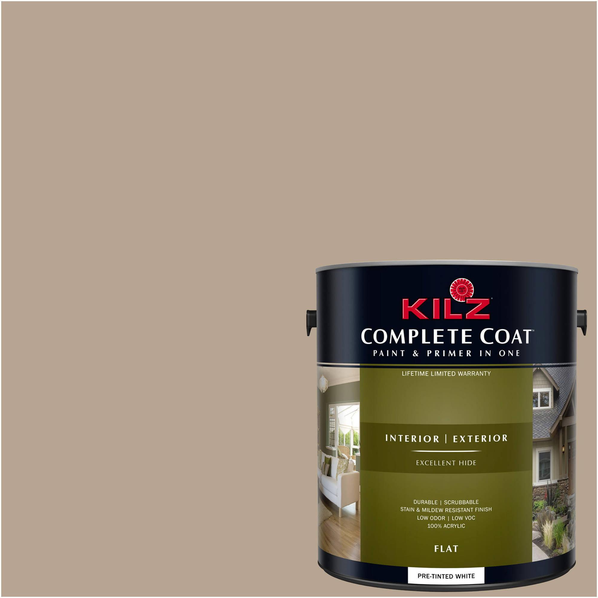 KILZ COMPLETE COAT Interior/Exterior Paint & Primer in One #LL200 Iced Mocha