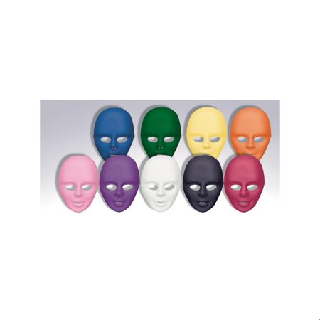 White Full Face Mask Halloween Costume Accessory - Halloween Cut Out Face Masks