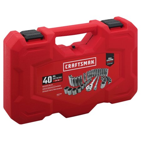 Craftsman 3/8 in. drive 6 Point Mechanics Tool Set 40 pc. - Case Of: 1; Each Pack Qty: 40; Total Items Qty: 40