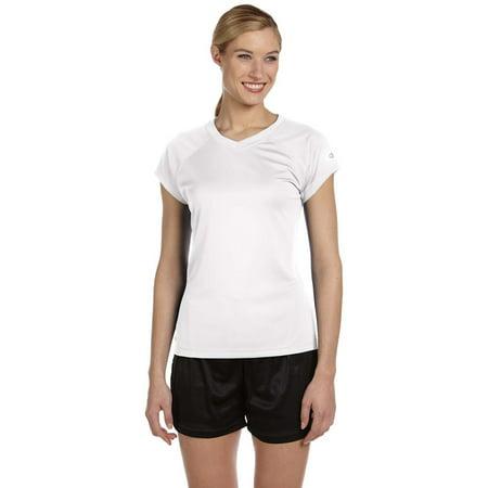 Champion Double Dry Ladies V-Neck T-Shirt - White - Small