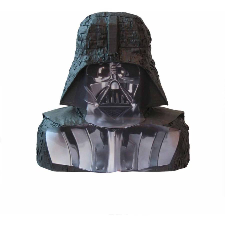 Darth Vader Star Wars Pinata, Pull String, 18 x 17, 1ct