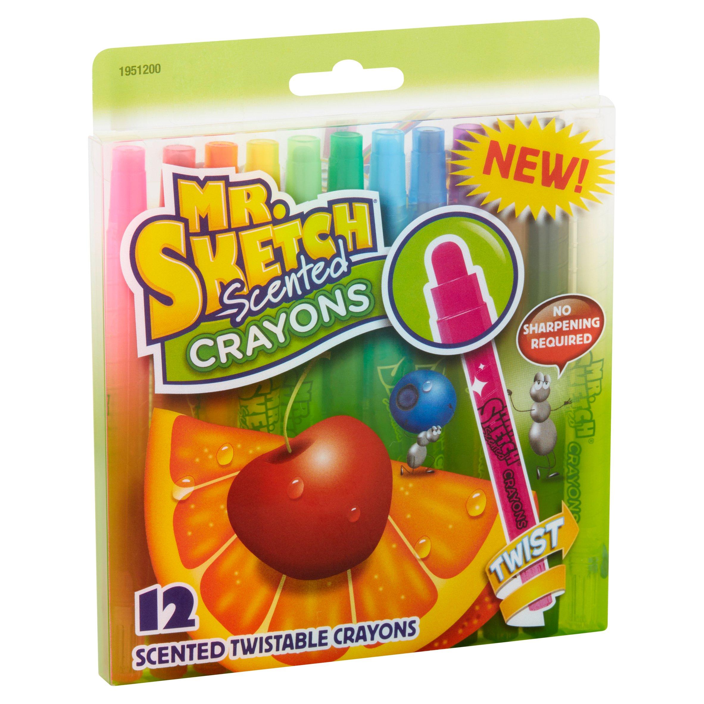 Crayon Rings Mr Sketch 12 Scented Twistable Crayons Walmartcom