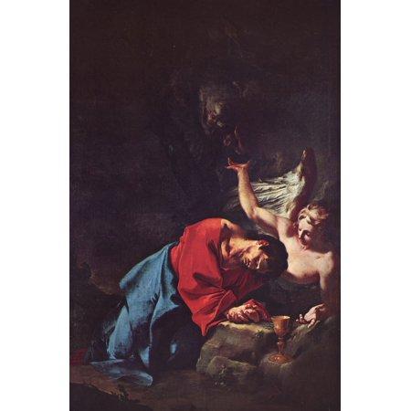Framed Art for Your Wall Troger, Paul - Christ on the Mount of Olives 10 x 13 Frame