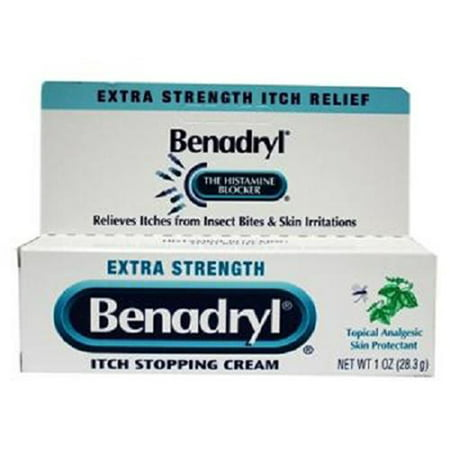 Benadryl Topical Itch Stopping Cream, Extra Strength, 1