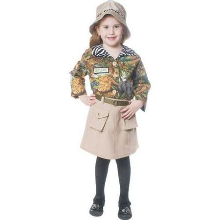Dress Up America  Girls' Safari Polyester Costume - Baby Safari Costume
