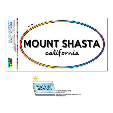 Mount Shasta, CA - California - Rainbow - City State - Oval Laminated Sticker