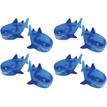 U.S. Toy Shark Water Squirter Pool Beach Bath Toys - Pack of 12 ()