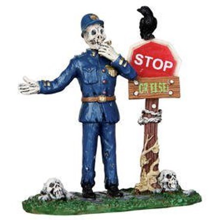 Lemax Halloween Village Clearance (Spooky Town Traffic Guard Halloween Village Figurine, Made in 2012 By Lemax Ship from)