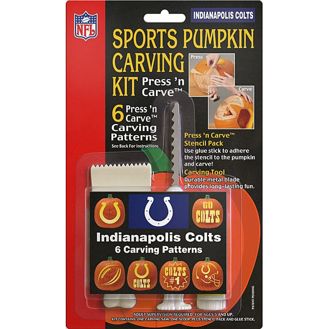 Topperscot Indianapolis Colts Sports Pumpkin Carving Kit