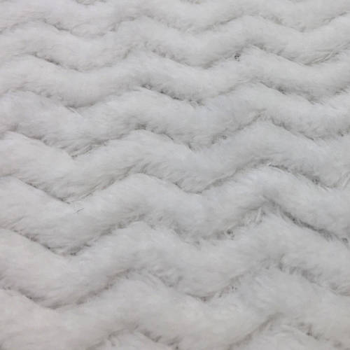 "RTC Fabric 100 Percent Polyester Fleece for Blankets, Apparel and Nursery, Zigzag Pattern, 60"", 255GSM"