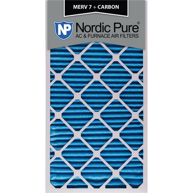Nordic Pure 10x30x1 MERV 8 Pure Carbon Pleated Odor Reduction AC Furnace Air Filters 4 Pack