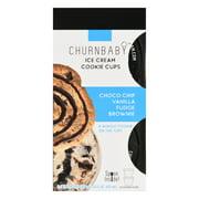 Churnbaby Cookie Cups Choco Chip Vanilla Fudge Brownie Ice Cream 2 ea