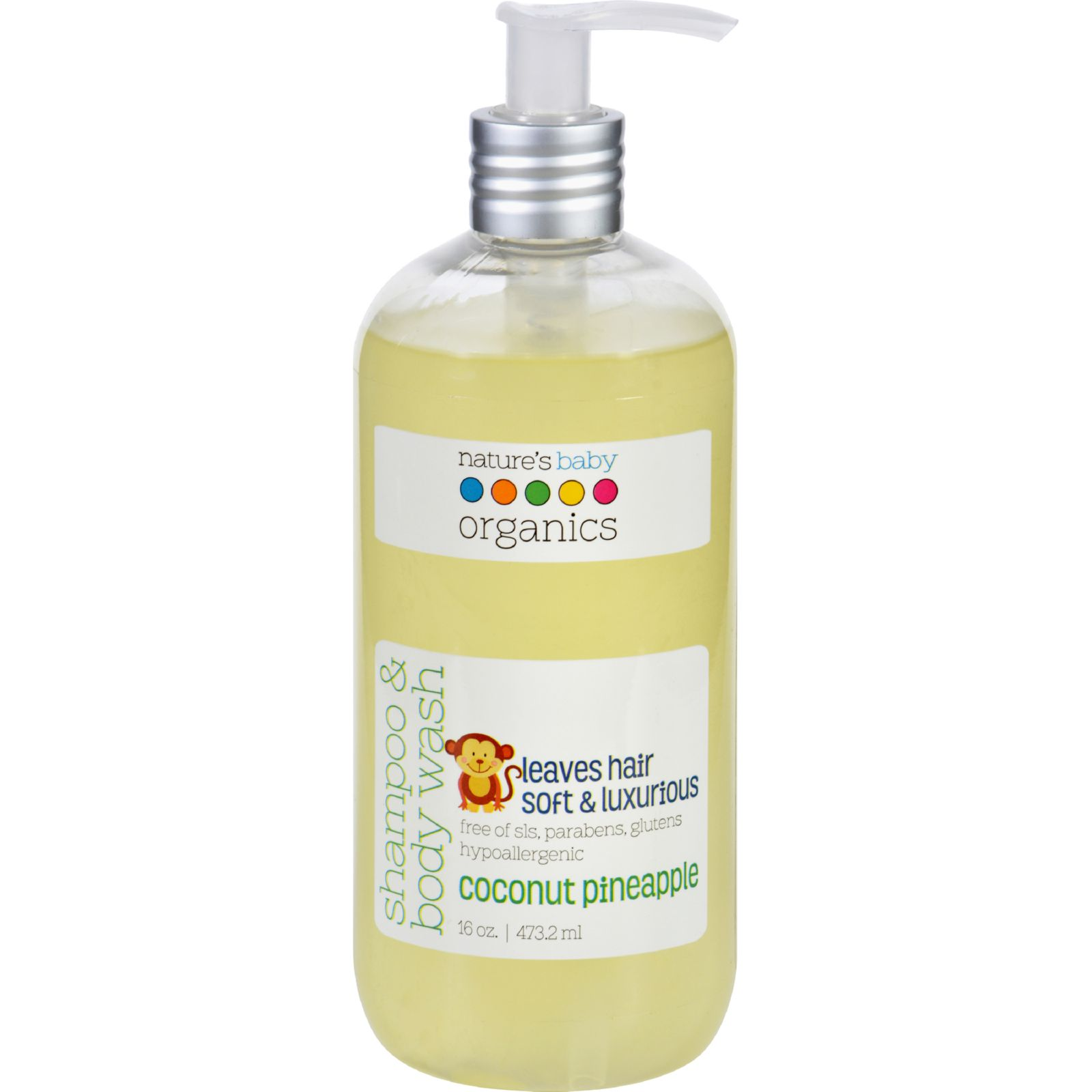 Nature's Baby Organics Shampoo & Body Wash Coconut Pineapple 16 oz by Nature%27s Baby Organics