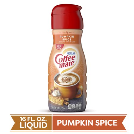 Coffee Mate Pumpkin Spice Liquid Coffee Creamer 16 Fl Oz Bottle Non Dairy Lactose Free Gluten Free Creamer