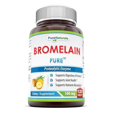 Bromelain 60 Tablets - Pure Naturals Bromelain 500 Mg 120 Tablets