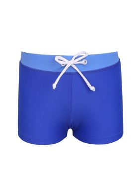 Baby Boys Blue Adjustable Waistband Euroleg Swim Shorts
