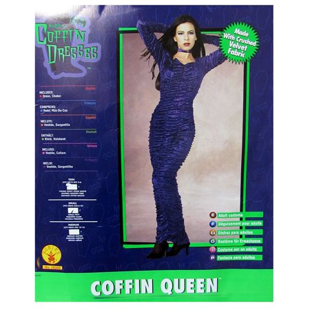 Rubie's Coffin Dresses Women Coffin Queen Halloween Costume, Red, Small - Diy Coffin Halloween