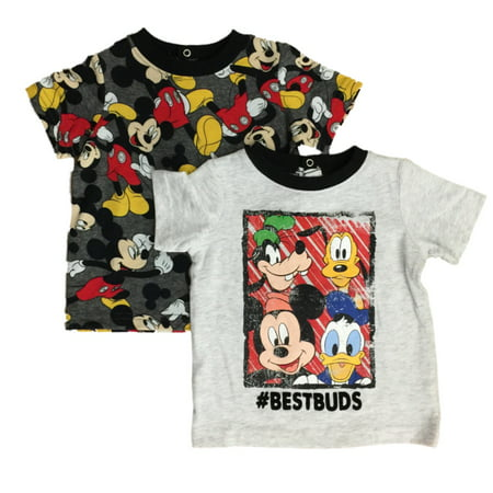 Disney Infant Boys Best Buds Mickey Mouse & Goofy T-Shirts Donald Duck