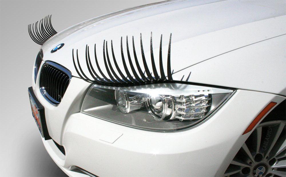 Car Eyelashes Pair Black By Hoolycow Walmart