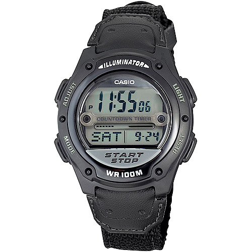casio s digital sport black walmart