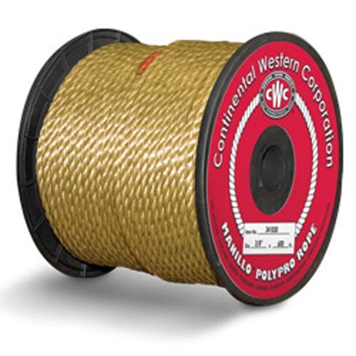 "CWC 3-Strand Polypropylene Rope - 5/16"" x 600 ft., MANILLO™"