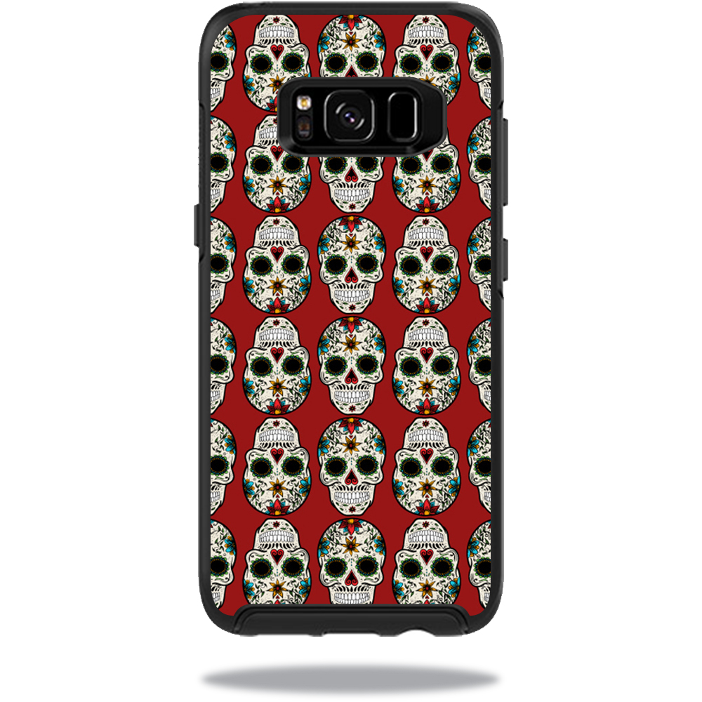 MightySkins Protective Vinyl Skin Decal for OtterBox Symmetry Samsung Galaxy S8 Case sticker wrap cover sticker skins Sugar Skull