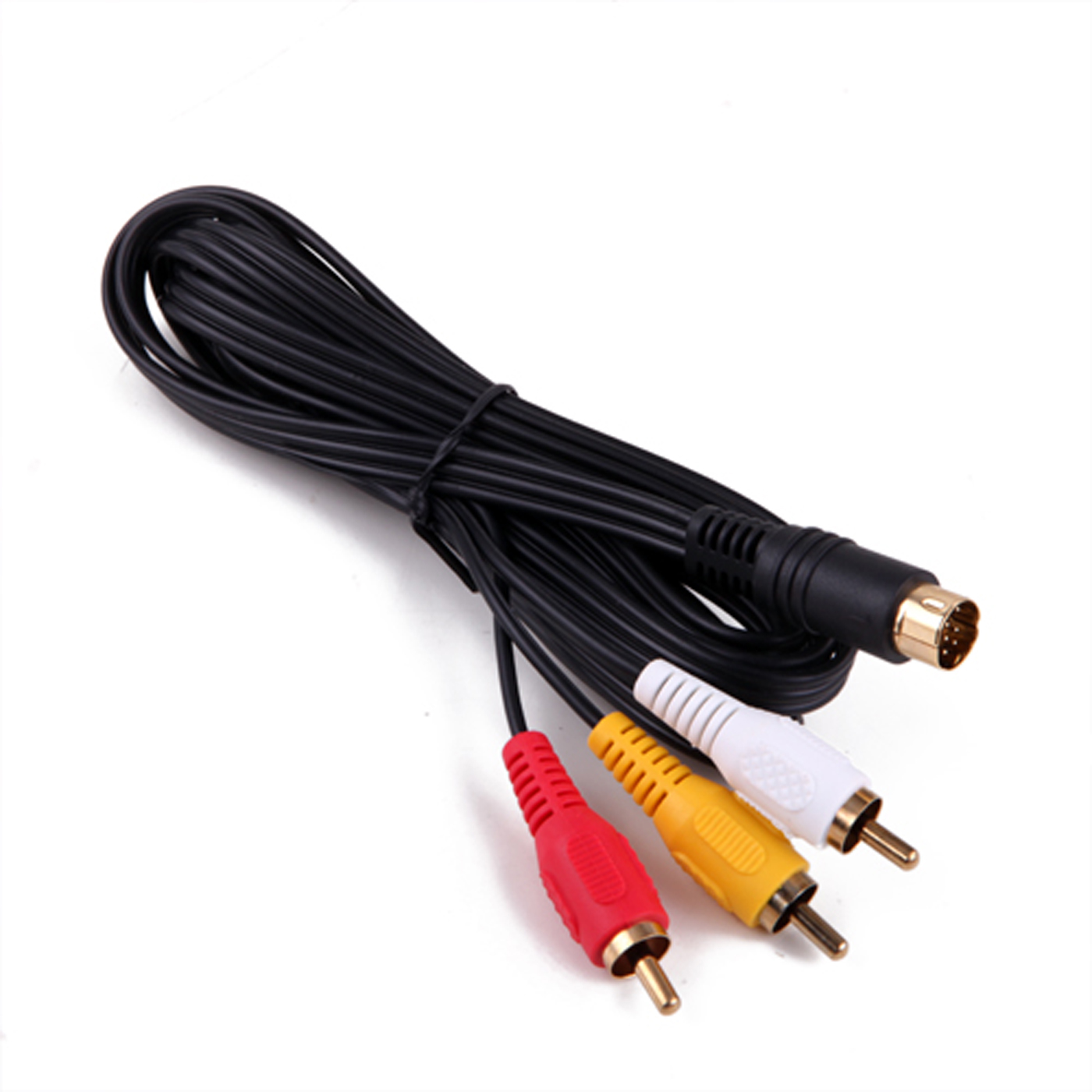 HDE Sega Saturn Gold Plated AV Audio Video Cable Cord TV Connector (6 Foot)