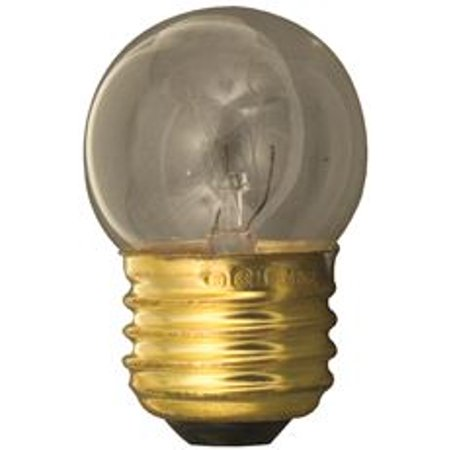 Satco Incandescent Night Light Lamp S11, 7.5 Watt, 120 Volt, Medium Base, Clear, 2,500 Average Rated Hours, 25 Per