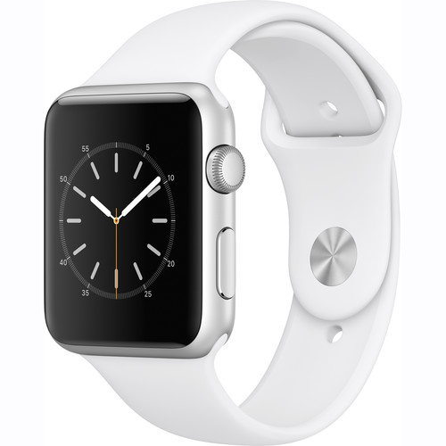 Refurbished Apple Watch Gen 2 Series 2 42mm Silver Aluminum - White Sport Band MNPJ2LL/A