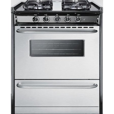 TTM21027BRSW 30 Freestanding Gas Range with 4 Sealed Burners  3.7 cu. ft. Oven Capacity  Electronic Ignition  Broiler Compartment and 2 Oven Racks  in Stainless