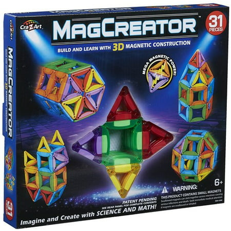 MagCreator 31 Piece Multicolor Magnetic Building Kit](Lightsaber Building Kit)
