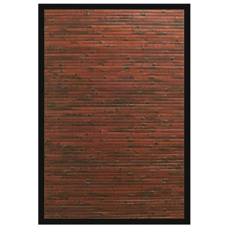 Cobblestone Mahogany Bamboo Rug 4'x6' ()