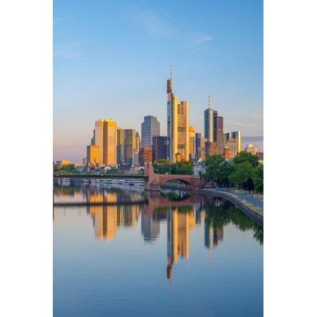 Germany, Hessen, Frankfurt Am Main, City Skyline across River Main Print Wall Art By Alan Copson - Halloween Frankfurt Germany