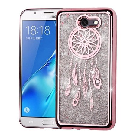Samsung Galaxy J7 Sky Pro case by Insten Luxury Quicksand Glitter Liquid Floating Sparkle Bling Fashion Phone Case Cover for Samsung Galaxy J7 Sky Pro / J7 2017](Galaxy Life Halloween 2017)