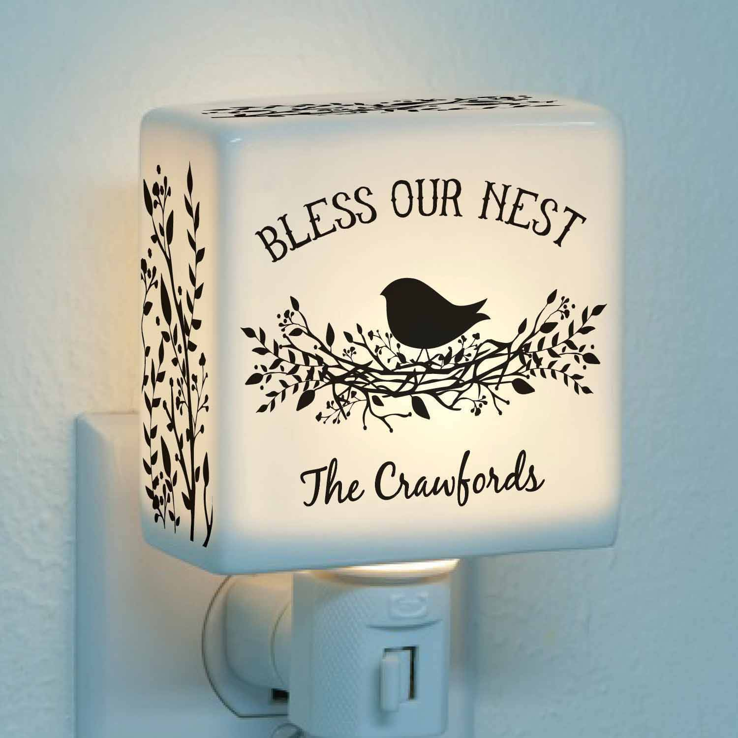 Personalized Bless Our Nest Night Light