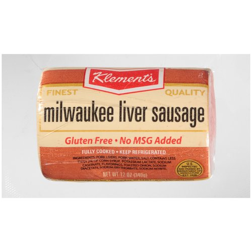Klement's Milwaukee Liver Sausage, 12 oz