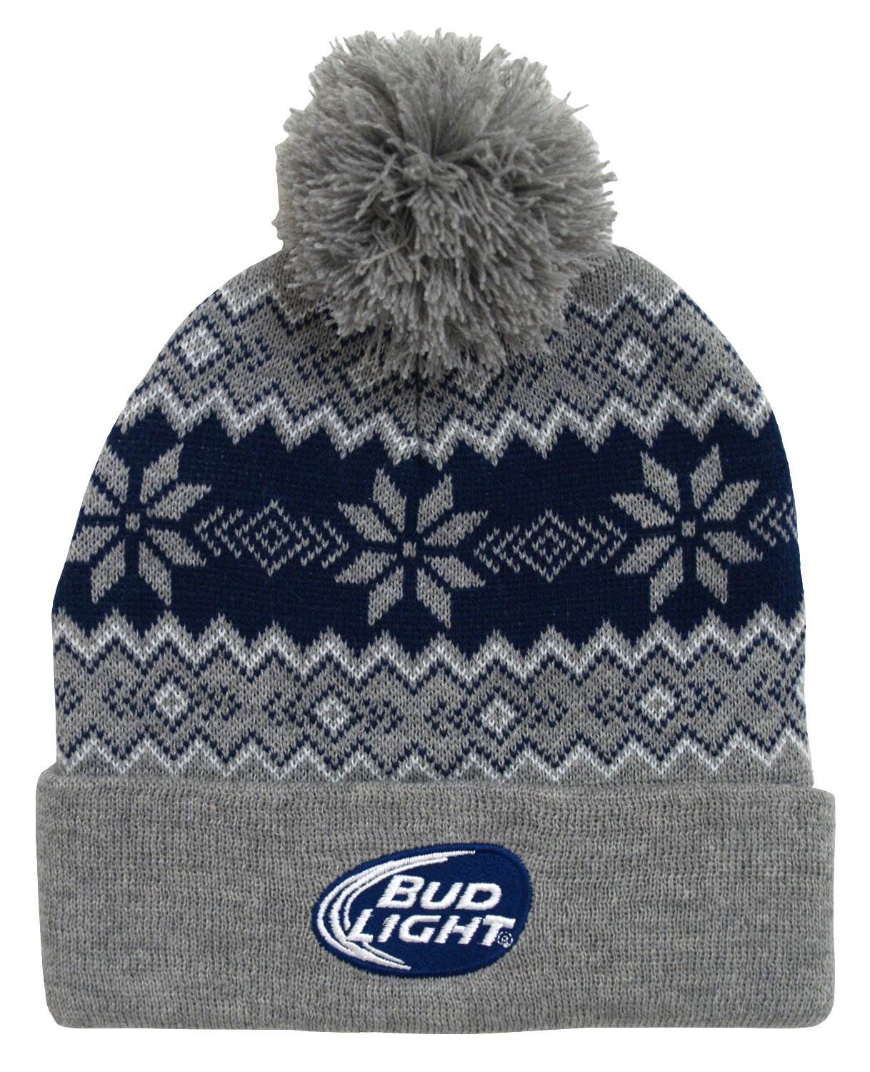 Knitting Hat Headwear for Mens Womens Cold Weather Solid Color Bud-Light-Logo