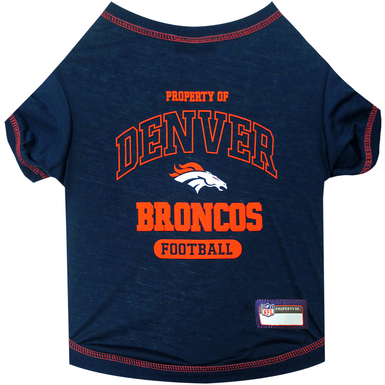 Pets First NFL Denver Broncos Pet T-shirt, Assorted Sizes