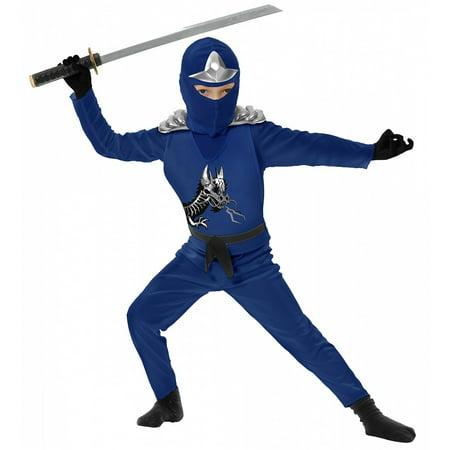 Ninja Avenger II with Armor, Blue, Child Small](Avenger Costume)