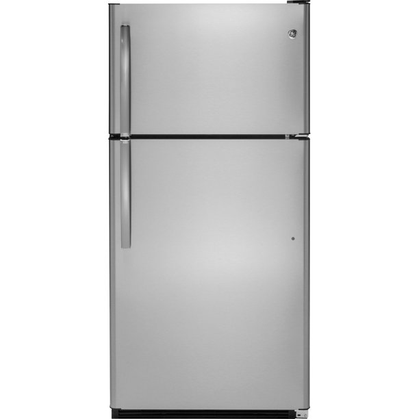 GE Appliances GTS21FSKSS 32 Inch Freestanding Top Freezer Refrigerator Stainless Steel