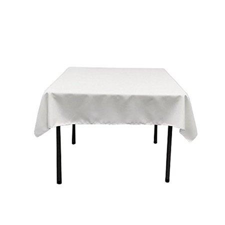 Gee Di Moda Square Tablecloth - 52 x 52 Inch - White ...