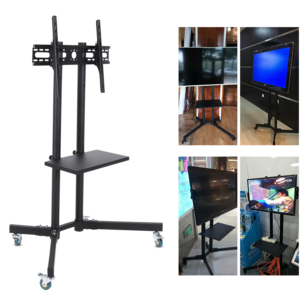 TV Stand Mount, Mobile TV Cart,Fosa Mobile TV Cart Adjustable Stand Mount for 32-65 Inch LCD/LED Flat Panel Screen with Wheels