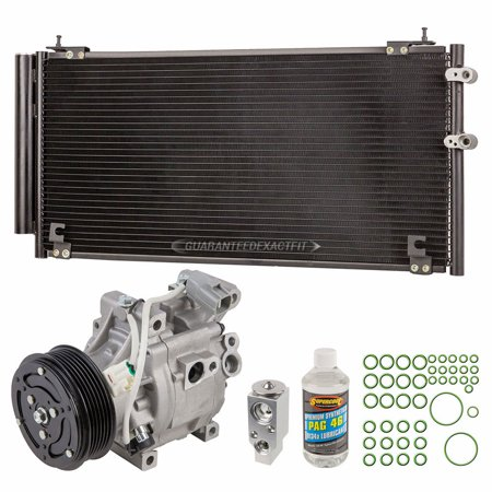 For Toyota MR2 Spyder 2000-2002 AC Compressor w/ A/C Condenser & Repair Kit ()
