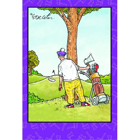 Pictura Golfer With Axe Eric Decetis Funny Humorous Birthday Card