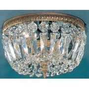 Crystal Baskets 2-Light Ceiling Flush (Bronze - Italian)